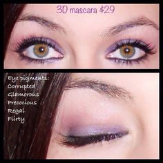 I love how easy it is to make your eyes a little brighter.  So simple with a little eye pigments and 3D mascara!