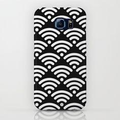 WiFi Pattern White on Black iPhone & iPod Case