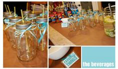 Favorite Things Party - love the mason jars!!  and the color theme to match the movie