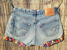 etsy floral jean shorts- could be an easy DIY
