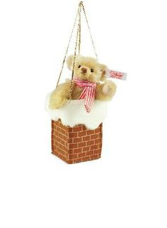 Steiff Teddy Bear in Chimney Ornament EAN 682704 http://www.sunny-bears.com/inv/steiff/teddy-bear-in-chimney-ornament-ean-682704.php