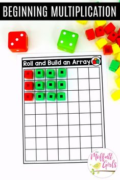 This activity teaches early multiplication. It gives students an understanding of situations that entail multiplication. Division Activities, Multiplication Activities, Math Enrichment, Multiplication And Division, Math Activities, Number Line Activities, Math Fractions, Numeracy, Homeschool Math