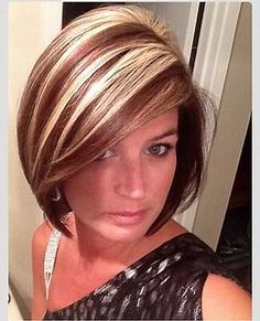 Image result for Red Hair with Chunky Blonde Highlights