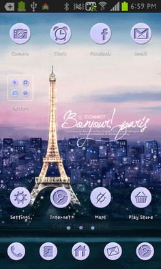 Paris go launcher theme截图1