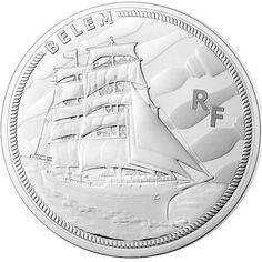 10 Euro Silber Französische Schiffe: Die Belem PP