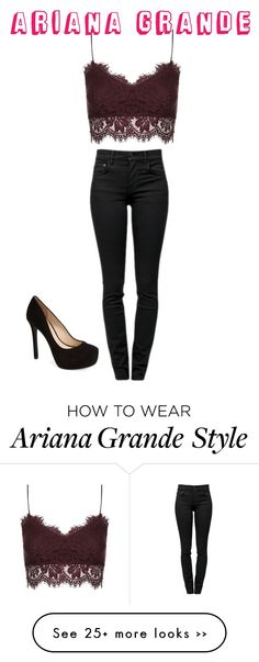 """""""Ariana grande inspired look"""" by desiv2001 on Polyvore"""