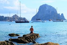 Me at Cala d'Hort, gazing at Es Vedra #ibiza #happiness