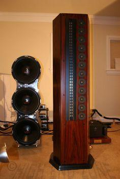 $70,000 Genesis 200 / 201 4-Tower Reference Speaker System in Redwood | Full…