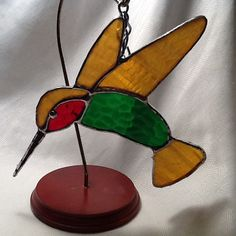 Stained Glass Hummingbird by jpglass on Etsy