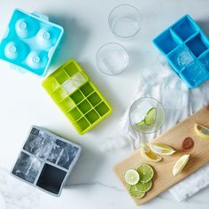 Love the idea of ice trays in square and spherical sets | Cool gift for drinkers or nifty little hostess gift.