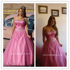 pink ball gown for tall girls