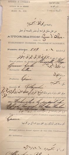Egypt Grocery Store License for Greek Greece Living in Alexandria Y 1905