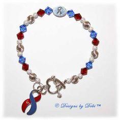 beautiful bracelet for congenital heart defects (CHD) awareness. http://pinterest.com/jcpinz/