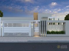 La imagen puede contener: cielo, nubes y exterior House Gate Design, Door Gate Design, Garage Door Design, Gate House, Facade Design, Fence Design, Facade House, Modern House Design, Exterior Design