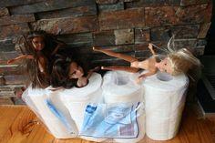 Toilet Paper Barbies