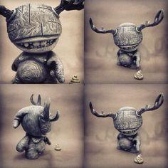"Custom-Munny by Shadoe Delgado for ""Attack of the Robots"""