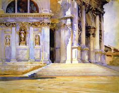 The Athenaeum - Santa Maria della Salute (John Singer Sargent - ) 1909