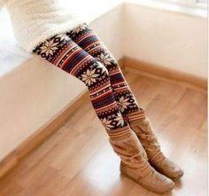 Sweater Print Tights!! Need.