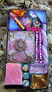 Shades of Pink Pendant by Doreen Bell Mosaic, via Flickr