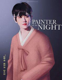 Chanbaek Fanart, Baekhyun Fanart, Yoonmin Fanart, Fantasy Art Men, Beautiful Fantasy Art, Genos Wallpaper, Manhwa, Night Portrait, Online Comics
