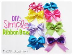 The290ss: DIY: Simple Ribbon Bow
