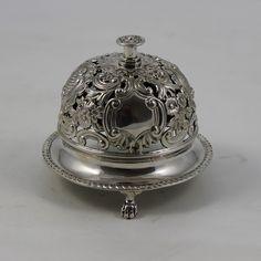 antique bells   ... Antique Silver Table Bell S.596 - D and D Antiques - Antique Silver