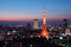 Tokyo Tower im Japan Reiseführer http://www.abenteurer.net/1994-japan-reisefuehrer/