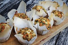 Matmuffins med fetaost & spinat Cottage Cheese, Sweet And Salty, Feta, Recipies, Muffins, Lunch, Baking, Breakfast, Food Ideas