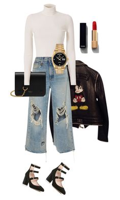 """Sin título #561"" by katarias ❤ liked on Polyvore featuring Philipp Plein, R13, Kate Spade, Mulberry, A.L.C., Chanel and Rolex"