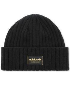 7607b04f95f adidas Men s Originals Ribbed Beanie - Black Adidas Beanie