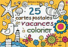 25 cartes postales de vacances à colorier de Candice Watmore Usborne