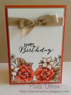 Stampinantics, Bloom with Hope, Butterfly Basics, Blendabilities, Paula Dobson Cute Birthday Cards, Handmade Birthday Cards, Greeting Cards Handmade, Card Making Inspiration, Making Ideas, Wood Stamp, Beautiful Handmade Cards, Card Maker, Watercolor Cards
