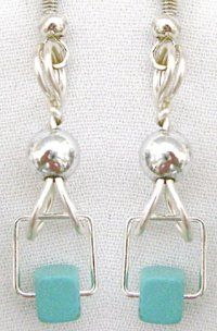 Contempo Turquoise Earrings | AllFreeJewelryMaking.com