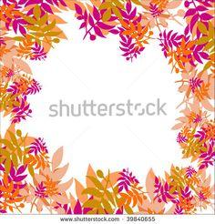Autumn leaves decoration - stock photo