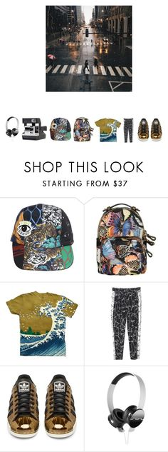 """""""nothing that gives"""" by wehatehannah ❤ liked on Polyvore featuring Kenzo, Valentino, Monki, adidas Originals, Etiquette and SOL Republic"""