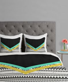 would look really good with my black bed/headboard //Chevron Aztec duvet cover