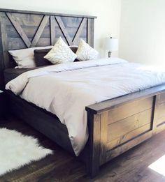 barn door style farmhouse bed X styling so beautiful handmade