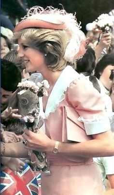 March 25, 1983: Princess Diana on a walkabout in Canberra, Australia.