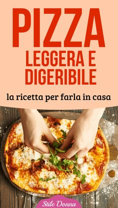 #pizza #homemade #ricette #stiledonna Veggie Pizza, Healthy Pizza, Healthy Cooking, Healthy Recipes, Pizza Cartoon, Focaccia Pizza, Pizza House, Pizza Recipes, Italian Recipes
