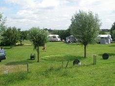 Camping at the river IJssel, the Netherlands