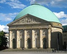 St. Hedwig's Cathedral is a Roman Catholic cathedral on the Bebelplatz in Berlin, Germany. It was built in the 18th century as the first Roman Catholic church of Prussia after the Protestant Reformation by permission of King Frederick II. It was consecrated in 1773.