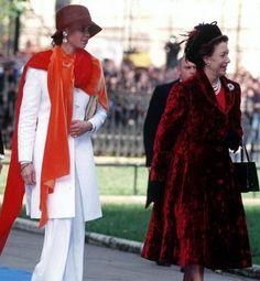 Lady Sarah Armstrong-Jones and Princess Margaret, October 8, 1993   The Royal Hats Blog