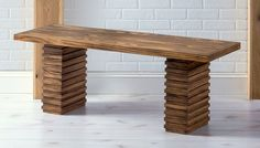 This modern wooden bench was inspired by a Crate and Barrel find for $999 - except we made our version for less than $60. Easy to follow tutorial!
