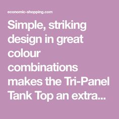 """Simple, striking design in great colour combinations makes the Tri-Panel Tank Top an extraordinary everyday tank. Our model is 5'7"""", measures a 40"""" inch chest and wears a size Medium. Features Include- IconicTremorLogo on to Left Chest; Ribbed arm and neck holes; Stretch fit; Size label printed to avoid irritation. S Colour Combinations, Printing Labels, Arm, Printed, Logo, Tank Tops, Medium, Simple, Model"""