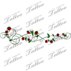 Marketplace Tattoo Sbink Green Rose Vine #1861 | CreateMyTattoo.com
