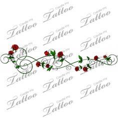 Marketplace Tattoo Sbink Green Rose Vine #1861 | CreateMyTattoo.com