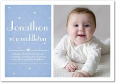 Pure Grace: Ocean - Boy Photo Birth Announcements in Ocean | Magnolia Press