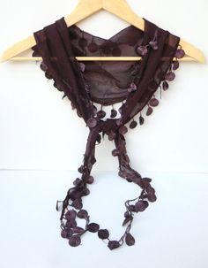 fashion scarfwomen scarveseggplant by scarvesCHIC on Etsy, $12.90