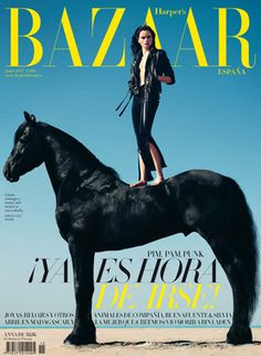 Horse on the cover of Harper's Bazaar
