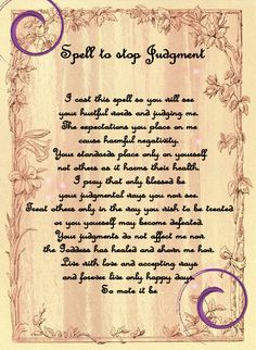 spell to stop Judgment